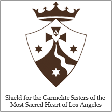Shield for the Carmelite Sisters of the Most Sacred Heart of Los Angeles